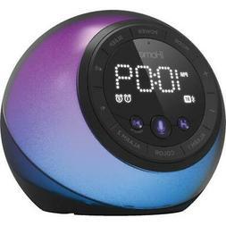 iHome IBT297 Dual Alarm Clock With USB Charging Bluetooth Sp