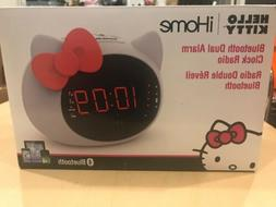 iHome Hello Kitty Bluetooth Dual Alarm Clock Radio Speaker  Fast Ship NEW
