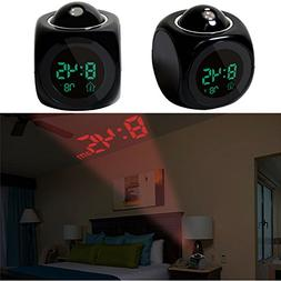 iMounTEK Alarm Clock LED Wall/Ceiling Projection LCD Digital