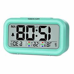 Peakeep Indoor Humidity Temperature Digital Alarm Clock for