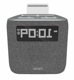 iHome iPL8BN Stereo FM Clock Radio with Lightning Dock for i