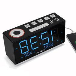iTOMA iR508 Alarm Clock with FM Radio,Dual Alarm,Auto&Manual
