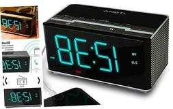 iTOMA Electronic Alarm Clock Radio-Bluetooth Stereo Speakers
