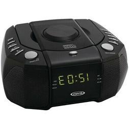 JENSEN JCR-310 Dual Alarm Clock AM/FM Stereo Radio with Top-