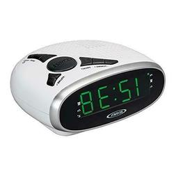 Jensen JCR-175W Digital AM/FM Clock Radio with Battery Backu