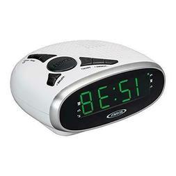 Jensen JCR-175W Digital AM/FM Clock Radio with Battery Backu