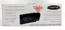 Jensen JCR-238BB Alarm Clock FM Radio USB Charging & Time Pr