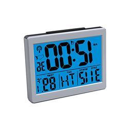 Jumbo Font Atomic Clock Self-Setting Self-Adjusting Time Dis