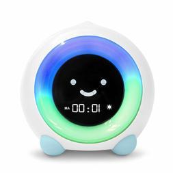 Blue Child Sleep Trainer Alarm Clock Kid Bed Room Night Ligh