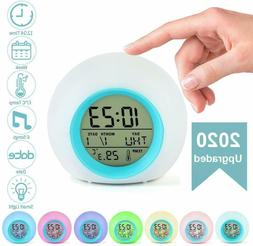 Kids Alarm Clock Digital for Student Boys Girls 7 Colors Cha