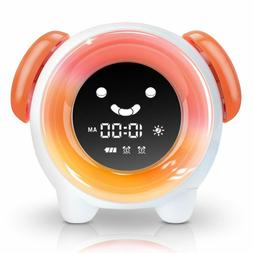 Kids Alarm Clock Night Light Clock with 7 Colors Changing Li