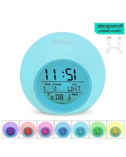 Kids Alarm Clock, The 2020 Newest Clock with Rechargeable Ba