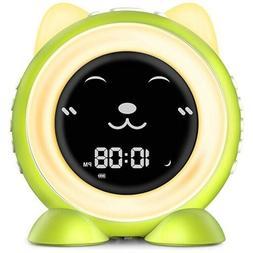 Kids Alarm Clock Training Alarm Color Changing Night Light B