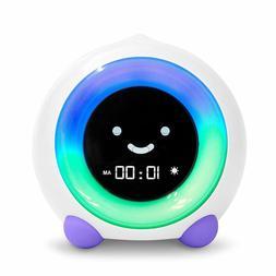Purple Child Sleep Trainer Alarm Clock Kids Bed Room Night L