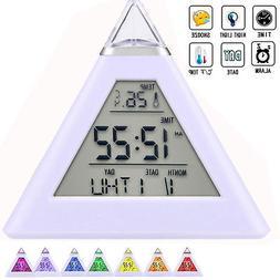 Kids Boys Girl Night Light Alarm Clock Digital LCD Snooze Cl