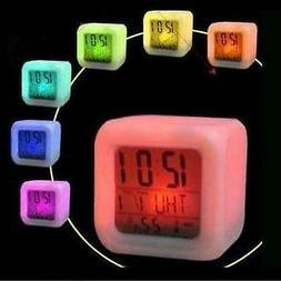 Kids Boys Girls Digital Alarm Clock Thermometer Night Light
