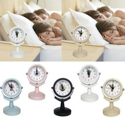 Kids Room Clock Bedside Clock Retro Round Alarm Clock Silent