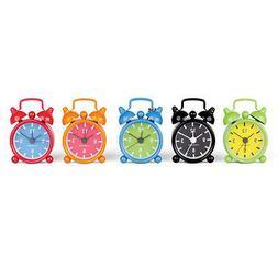 Kikkerland Mini Bell Alarm Clock Key Ring your choice of 6 c