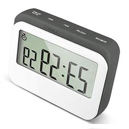 VPAL Digital Kitchen Timer 12 / 24 Hours Alarm Clock with Ma
