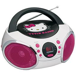 Hello Kitty KT2026-MBY Portable Stereo CD Boombox with AM/FM