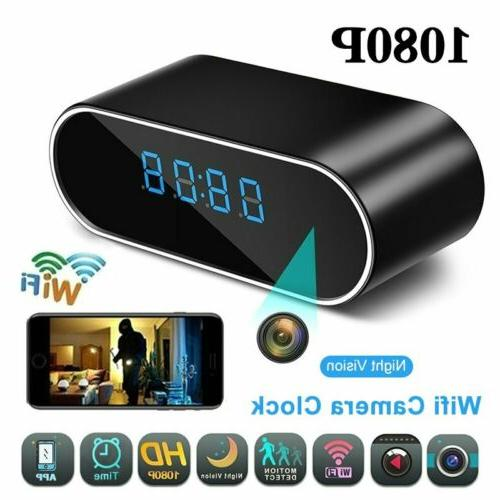 1080P HD Surveillance Wifi Camera Night Vision Alarm Clock I