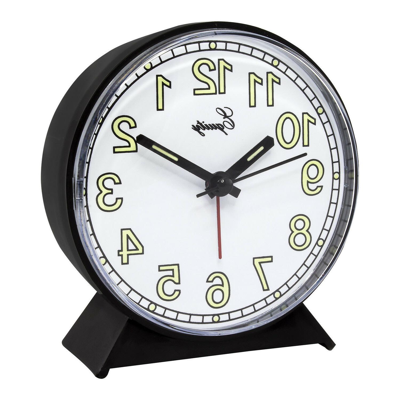 14077 Equity by La Crosse Battery Quartz Alarm Clock Black