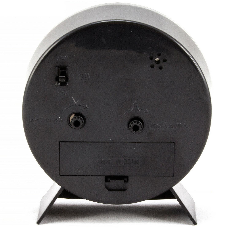 14077 Equity Crosse Quartz Alarm Clock - Black