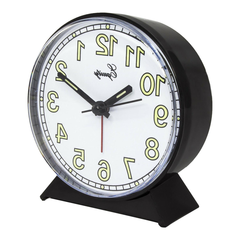 14077 by Crosse Powered Analog Quartz Clock Black