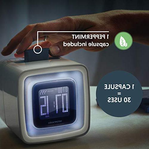 Sensorwake 2 Sense Awakening Alarm Clock - Scent Sound Soft Guarantee 1 Capsule Included
