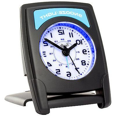 20085 Equity Crosse Quartz Alarm Clock with Blue Backlight