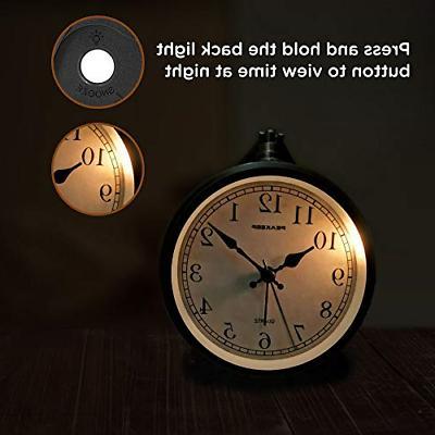 Peakeep Operated Antique Clock, Silent