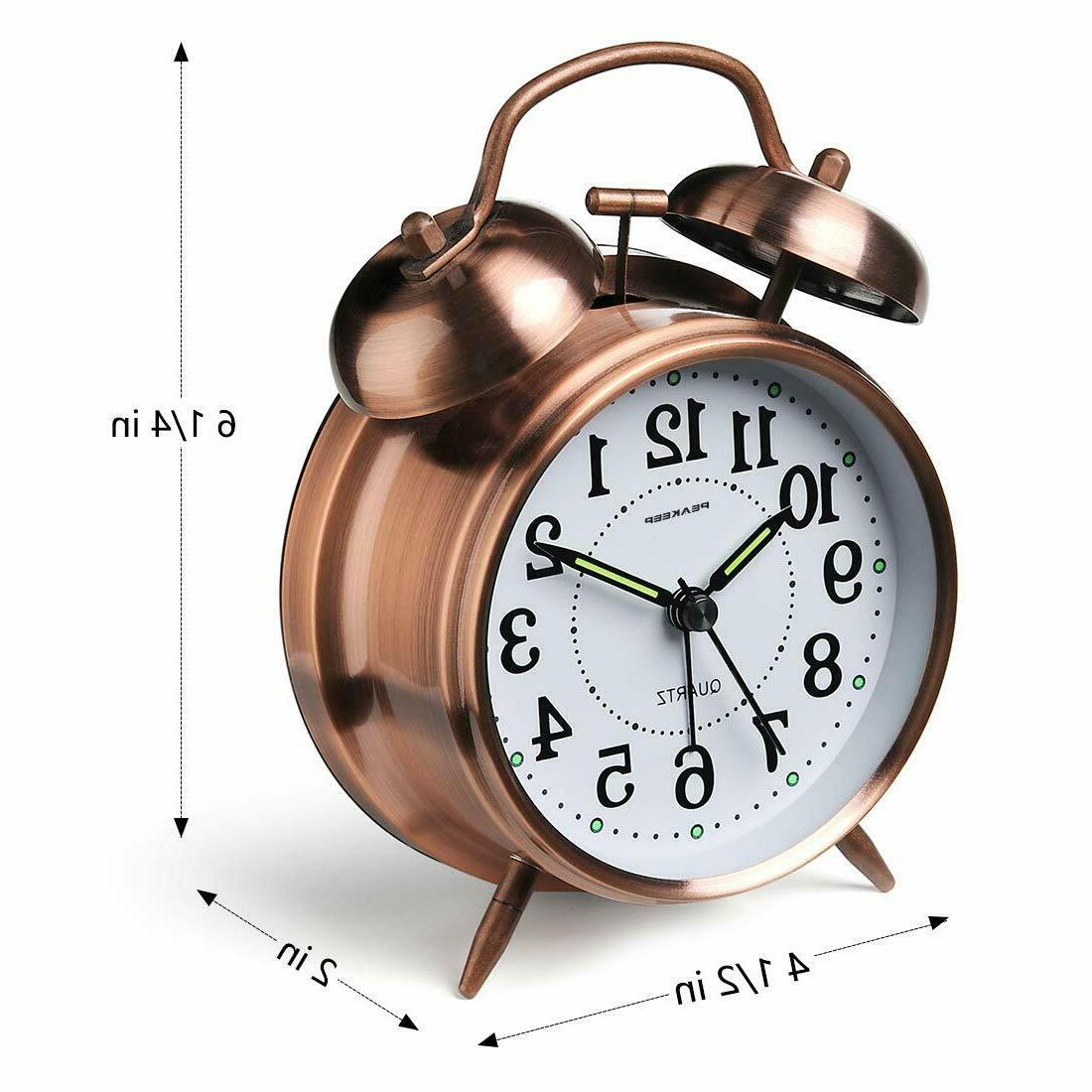 FREESHIPPING-Peakeep 4 Bell Loud Clock for