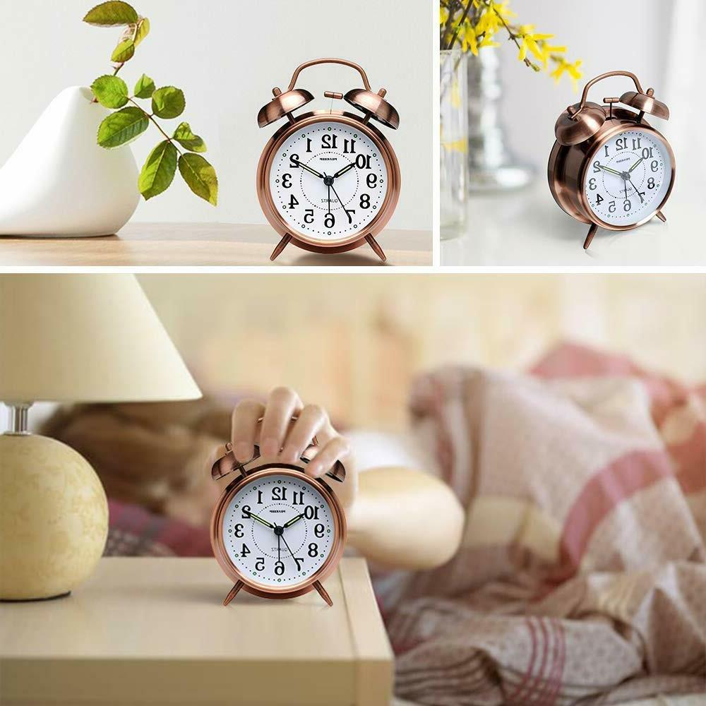 FREESHIPPING-Peakeep inches Bell Alarm Clock for