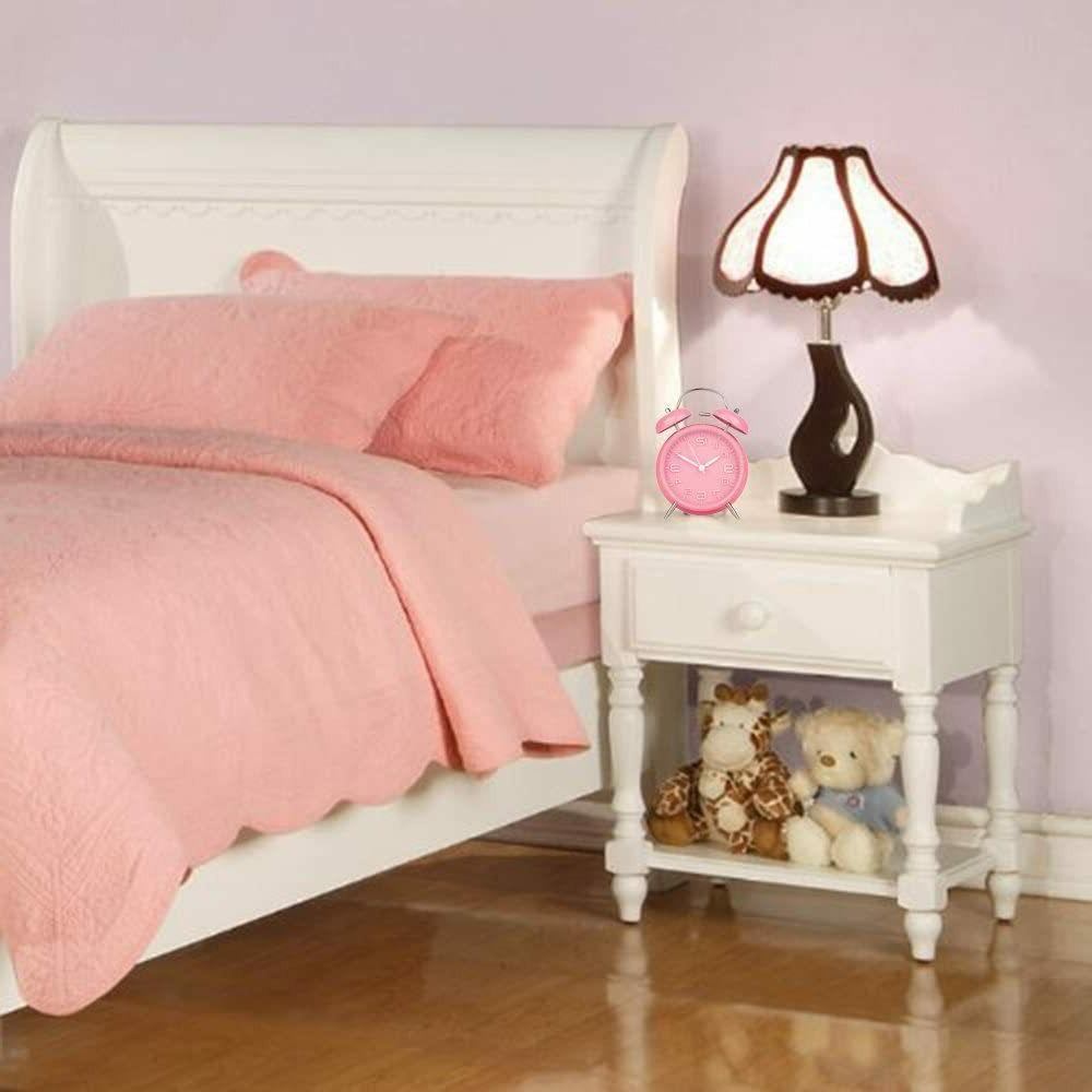 Peakeep Bell Pink Alarm Battery Operated,