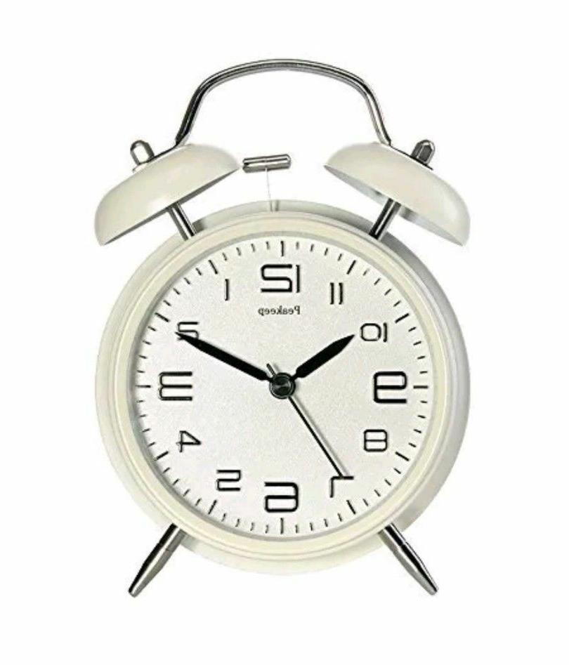 4 twin bell alarm clock with stereoscopic