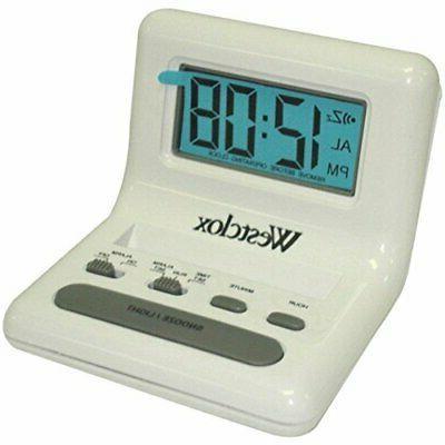 47539 8 white alarm clock