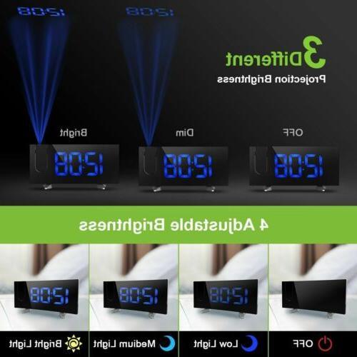"5"" Projector Projection FM Radio Snooze Alarm"