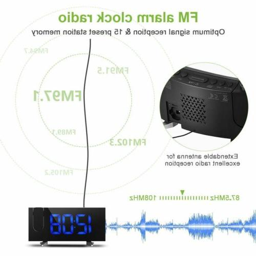 "5"" LCD Digital LED Projector Snooze Alarm Alarm"
