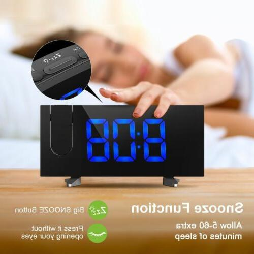 "5"" LED Projector FM Snooze Clock Dual Alarm"