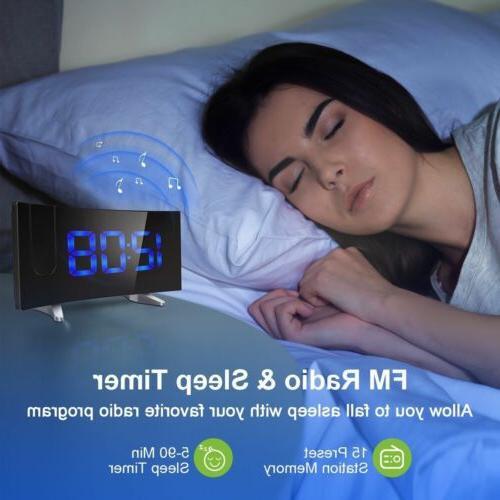 "5"" LCD Digital Projector Projection FM Snooze Clock Alarm"