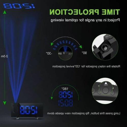 "5"" Digital Projector Snooze Alarm Alarm"