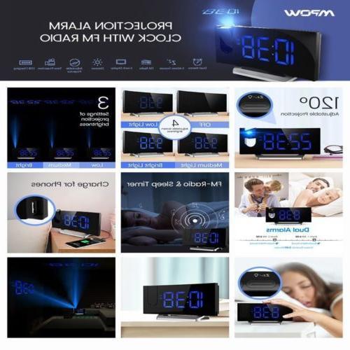 "Mpow 5"" Clock Alarm Clock W/ Alarm USB"