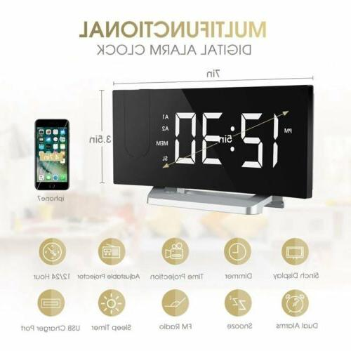 "Mpow 5"" Projection Clock Alarm Clock W/ Alarm"