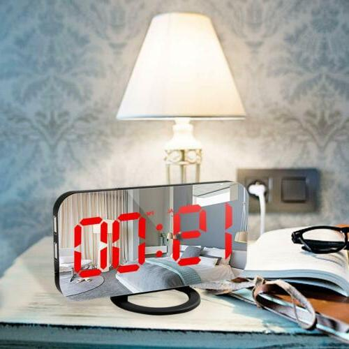 6.5'' Digital Alarm Clock Snooze Display USB