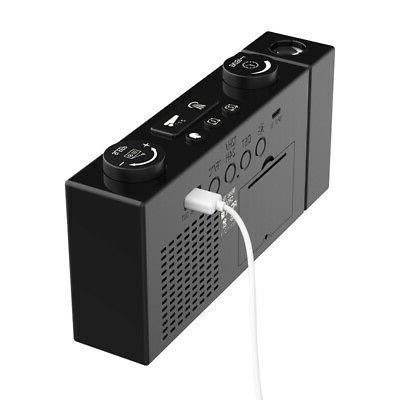 6 Digital Alarm Clock Adjust Volume USB Powers G0F2