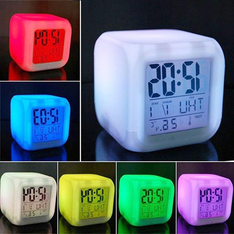 7 color led change digital glowing font