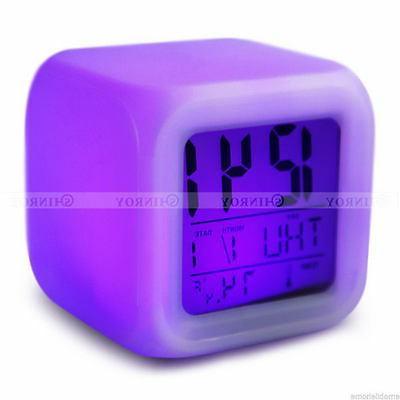 7 Glow Clock Digital Termometer Display