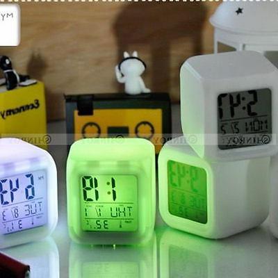 7 Color Glow Alarm Clock Digital