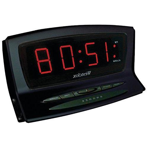 WESTCLOX 70012BK INSTANT-SET LED ALARM CLOCK