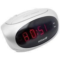 Westclox 70044B Super-Loud LED Electric Alarm Clock, White